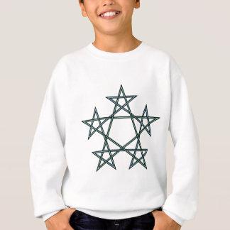 Pentagrams-interlaced-pattern Sweatshirt