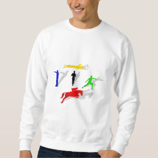 Pentathlon Fencing Shooting Swimming Jumping Run Sweatshirt