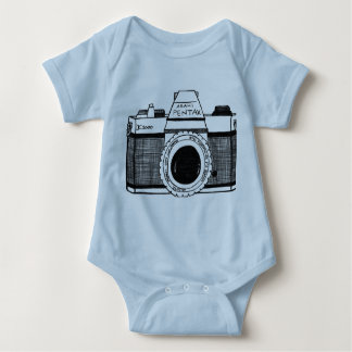Pentax camera baby bodysuit