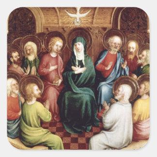 Pentecost, 1450 square sticker