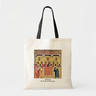 Pentecost By Giotto Di Bondone Tote Bag