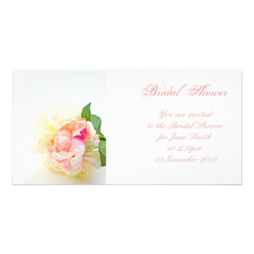 Peonie Bunch 2 - Bridal Shower Invitation Photo Cards