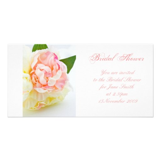 Peonie Bunch - Bridal Shower Invitation Photo Card