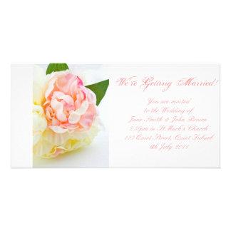 Peonie Bunch - Wedding Invitation Picture Card