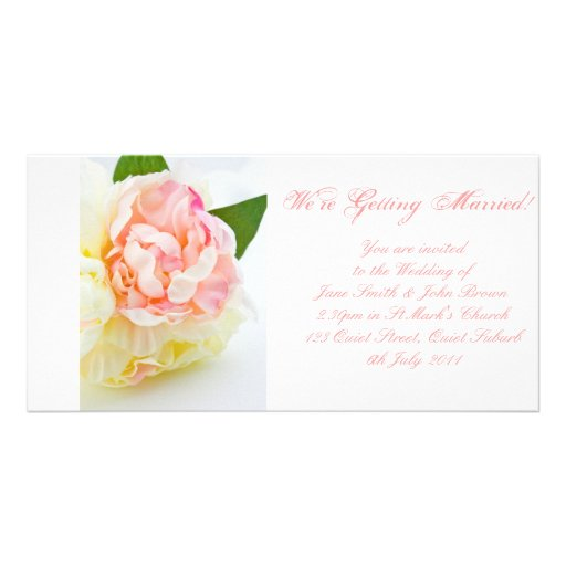 Peonie Bunch - Wedding Invitation Picture Card