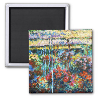 Peonies, 1887 Claude Monet cool, old, master Square Magnet