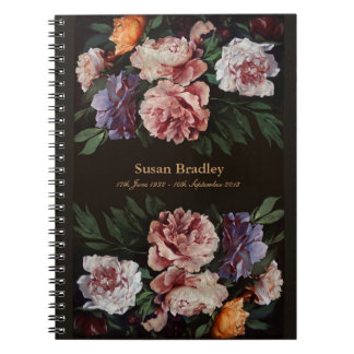 Peonies 3 Memorial or Funeral Guest Book