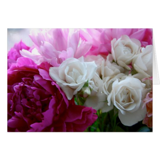 Peonies and Roses 4 Card