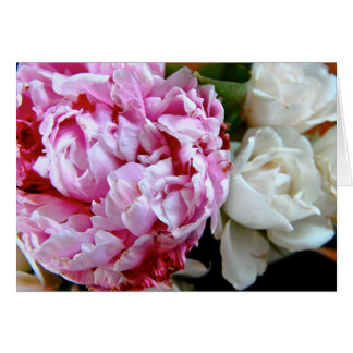 Peonies and Roses 5 Card