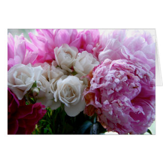 Peonies and Roses 6 Card