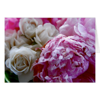 Peonies and Roses 7 Card