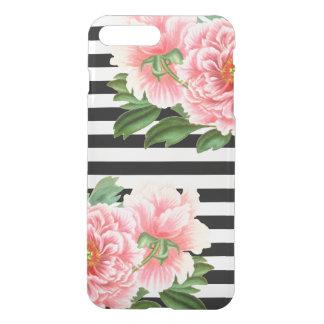 peonies black stripes iPhone 8 plus/7 plus case