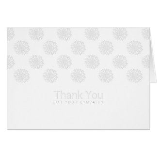 Peonies Digital Paper Cut-Out Sympathy Thank You Card