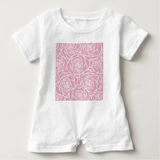 Peonies,floral,white,pink,pattern,girly,modern,bea Baby Romper