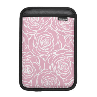 Peonies,floral,white,pink,pattern,girly,modern,bea iPad Mini Sleeve