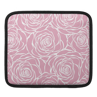 Peonies,floral,white,pink,pattern,girly,modern,bea iPad Sleeve