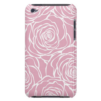 Peonies,floral,white,pink,pattern,girly,modern,bea iPod Case-Mate Cases