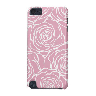 Peonies,floral,white,pink,pattern,girly,modern,bea iPod Touch (5th Generation) Covers