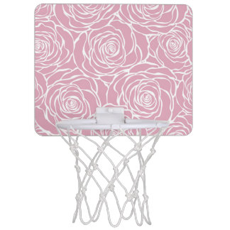 Peonies,floral,white,pink,pattern,girly,modern,bea Mini Basketball Hoop