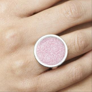 Peonies,floral,white,pink,pattern,girly,modern,bea Ring