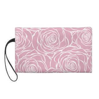 Peonies,floral,white,pink,pattern,girly,modern,bea Wristlet