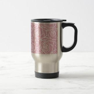 Peonies,floral,white,pink,pattern,girly,modern, Travel Mug
