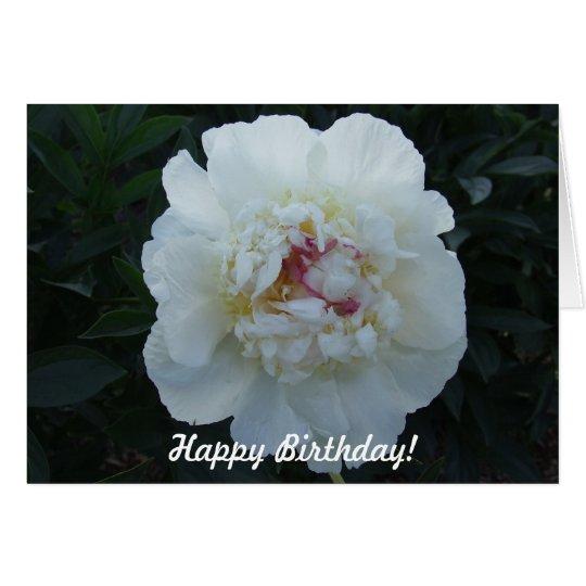 Peonies Happy Birthday Card