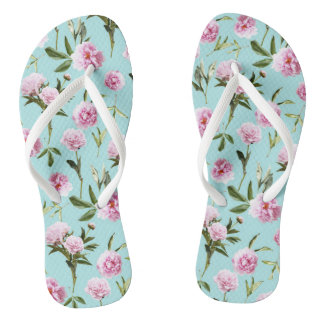 Peonies in her Dreams Flip Flops