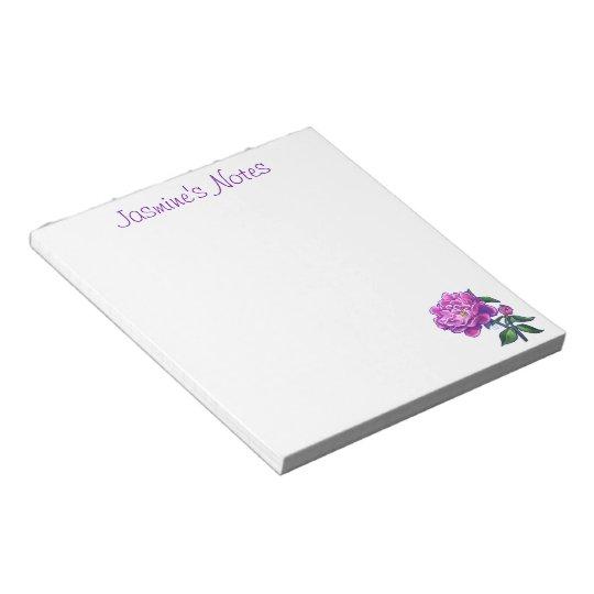Peonies Notepad
