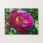 Peonies of China Jigsaw Puzzle