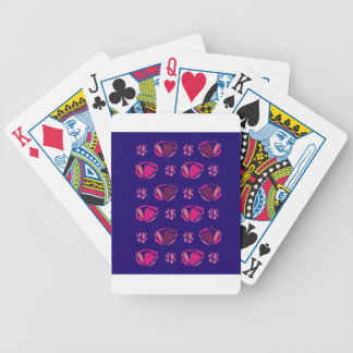 PEONIES ON BLUE  FOLK BICYCLE PLAYING CARDS
