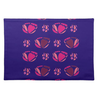 PEONIES ON BLUE  FOLK PLACEMAT