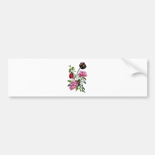 Peonies, Rose and Tulip Bouquet by Prevost Bumper Sticker
