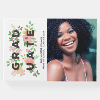 Peonies & Roses Floral Graduate - Photo Guest Book
