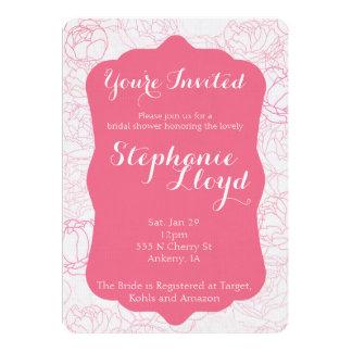 Peony Bridal Shower Invitation