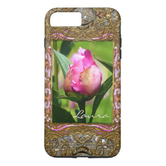 Peony Bud Monogram Girly VII iPhone 8 Plus/7 Plus Case