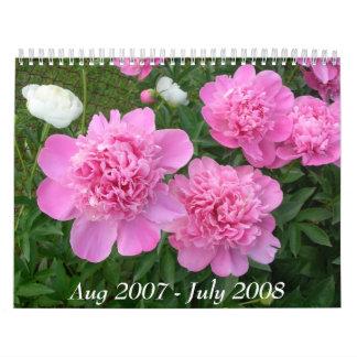 Peony Calendar Aug 2007 - July 2008