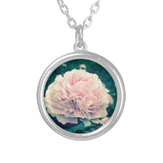 peony crossprocess silver plated necklace