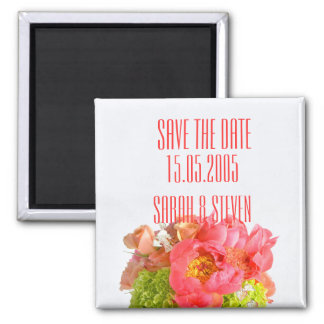 Peony Dreamy Sweet Bouquet Save the date Fridge Magnet