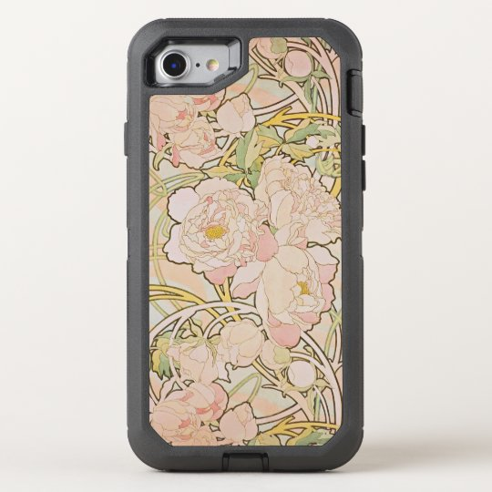 Peony Floral by Alphonse Mucha OtterBox Defender iPhone 8/7 Case