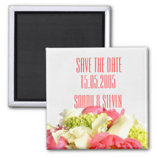 Peony Floral Sweet Bouquet Save the date Refrigerator Magnet