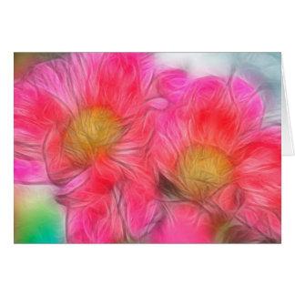 Peony Flower Duo Card