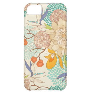 Peony Flower Pattern Apple iPhone 5C Case