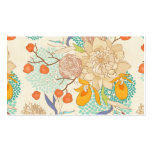 Peony Flower Pattern Classic Business Card