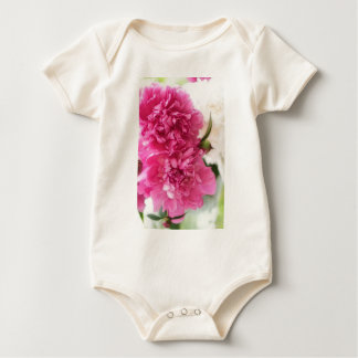 Peony Flowers Close-up Sketch Baby Bodysuit