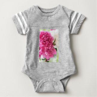 Peony Flowers Close-up Sketch Baby Bodysuit