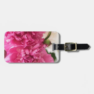 Peony Flowers Close-up Sketch Luggage Tag