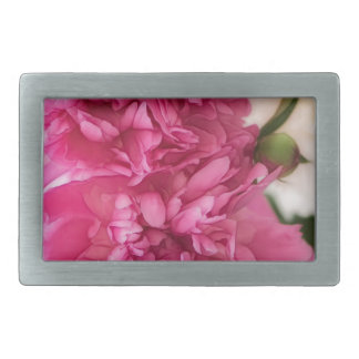 Peony Flowers Close-up Sketch Rectangular Belt Buckle