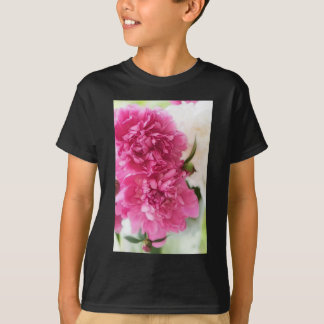 Peony Flowers Close-up Sketch T-Shirt