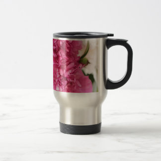 Peony Flowers Close-up Sketch Travel Mug